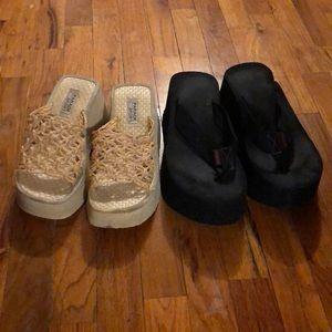 Used Thick Platform Sandals